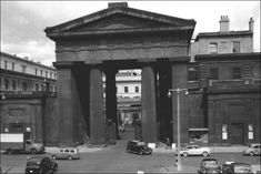 Just up the road from King's Cross was the giant arch that stood outside the front of Euston station. Despite an outcry, it was demolished in the early 1960's when a new station was built.