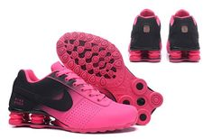 Women's Nike Shox Deliver Black Baby Pink Running Shoes - clothes and sneakers - Best Shoes World Mens Nike Shox, Nike Shox For Women, Nike Shox Shoes, Nike Shox Nz, Nike Tennis Shoes, Nike Women, Nike Shoe, Pink Running Shoes, Pink Shoes