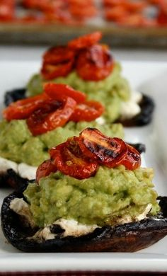 Goat Cheese & Avocado Portobellos
