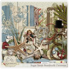 Digital Scrapbook Kit - Boardwalk Christmas | Etc by Danyale
