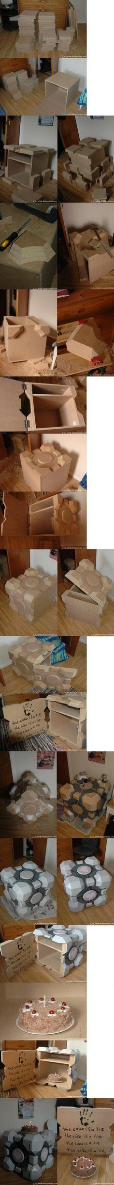 Companion cube box tutorial