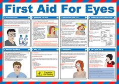 Printable Emergency First Aid Chart | First Aid For Eyes Guide Poster / Wall Chart