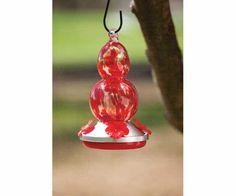 Greatest Bird Feeders - HumBird Feeder Red Glass $25.96