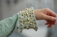 DIY Studded Shirt Cuff