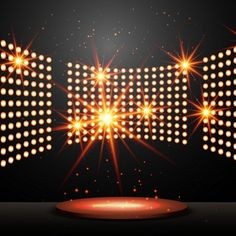 Podium with lights and shining stars Free Vector Dance Background, Poster Background Design, Love Background Images, Behind The Candelabra, Photography Studio Background, Light Music, Light Art, All Of The Lights, Music Backgrounds