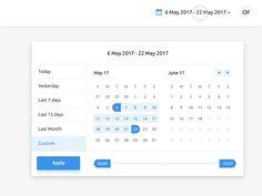 Datepicker with Time Range Slider date custom ux ui dashboard date picker Slider Ui, Slider Design, Ui Design, Print Design, Calendar Ui, Calendar Design, Interface Design, User Interface, Business Dashboard