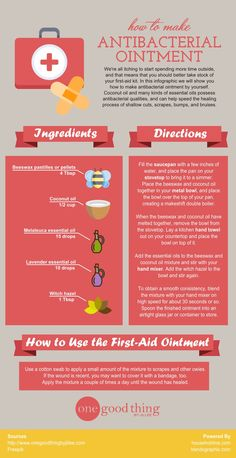 How to make a homemade first-aid ointment    #Homemade #FirstAid #Ointment #householdme #infographic #infographcidesign #thegoodthing