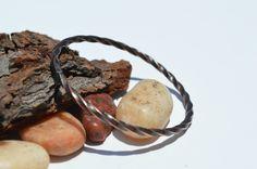 Twisted Copper Bangle, Copper Bracelet, Oxidize Bangle, Unisex Jewelry, Unisex Bangle, Copper wire, Wire Jewelry, Metalsmith Jewelry by CreationsBydeNice on Etsy