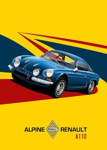 Renault Alpine A110 Poster Illustration by Russell Wallis