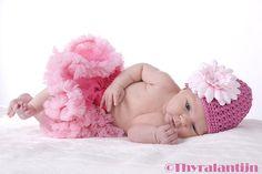 Pettiskirt pink met roze, super voor een newborn shoot !