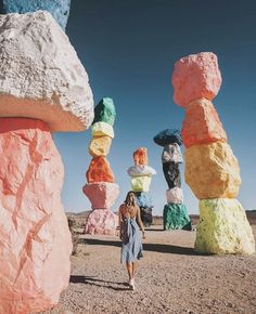 7 Colorful Destinations You Have to See to Believe - Camille Styles All travel is an adventure, but some destinations involve more adventure than others. Get out there and savor the adventure at whatever level you choose. Places To Travel, Travel Destinations, Places To Go, Travel Europe, Greece Travel, Usa Travel, Usa Roadtrip, Seven Magic Mountains, Voyage Canada