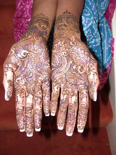 henna with glitter :)