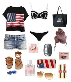 """""""Beach Day!"""" by elaabad on Polyvore featuring Chicnova Fashion, Breckelle's, Venus, Casetify, Tom Ford, Tarina Tarantino, Jimmy Choo, Yves Saint Laurent and South Beach"""