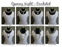 Opening Night - Crocheted  Find me on Facebook for ~PREMIER JEWELRY~ Lori Ann Wilson Remscheid