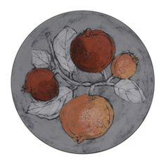 Pentik Pomegranate plate Lovely Things, Pomegranate, Finland, Modern Art, Pottery, Plates, Ceramics, Stone, Tableware