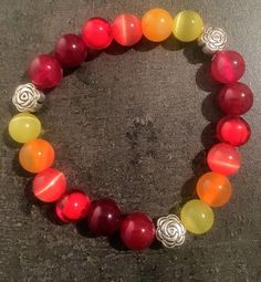 Color of autumn  8mm bracelet