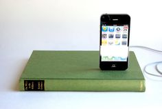 iPhone charger in a book!