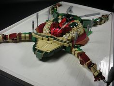 Lego frog dissection