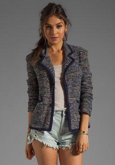 MARC BY MARC JACOBS Suze Sweater Blazer in Normandy Blue Multi - Sale