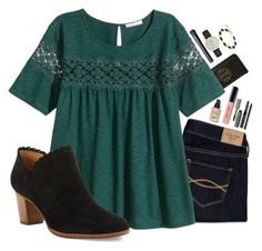 featuring Tory Burch, Abercrombie & Fitch, Bobbi Brown Cosmetics, H&M, NARS Cosmetics, Kate Spade, Kendra Scott, Jack Rogers, women's clothing and women's fashion
