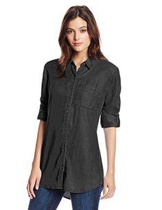 Softest Material Tencel Tunic, Black Overdye