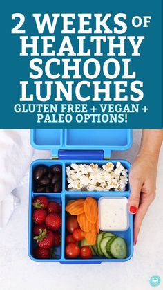 2 Weeks of Healthy School Lunches! These gluten free, dairy free school lunch ideas are all kid-tested and DELICIOUS! Kids Lunch For School, Healthy Lunches For Kids, Toddler Lunches, Kids Meals, Healthy Snacks, Healthy Recipes, Kids Lunch Box Ideas Schools, Lunch Box Ideas For Adults Healthy, Healthy Eating