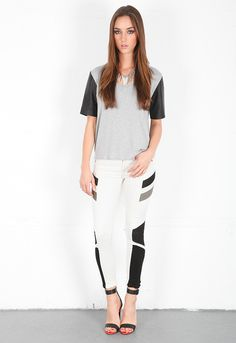 Dem jeans...Rag & Bone/JEAN Halifox Legging in Winter White
