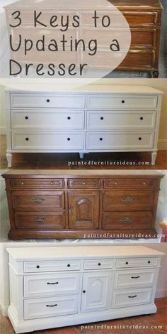 3 Keys to updating a dresser                                                                                                                                                                                 More