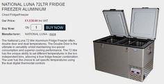 NATIONAL LUNA 72LTR FRIDGE FREEZER ALUMINIUM £1,538.00 - Chest Fridge/Freezer Engel Waeco ARB Portable Fridge freezers