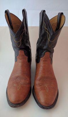 Tony Lama 2023 Western Roper Boots Cognac Aztec Shrunken Shoulder Men's 9.5 D #TonyLama #CowboyWestern