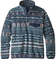 Patagonia Women's Synchilla Snap-T Fleece Pullover, Blue Patagonia Outfit, Patagonia Fleece Pullover, Patagonia Synchilla, Patagonia Jacket, Sweatshirt Outfit, T 4, Clothing Patterns, Fleece Jackets, Amigurumi