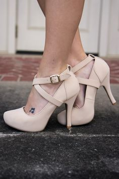 These nude heels are everything this spring.