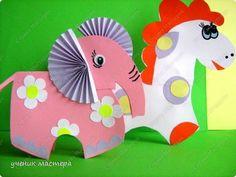 Внеклассная работа Игрушка Аппликация Моделирование конструирование игрушки-зверюшки + шаблоны Бумага Картон фото 3