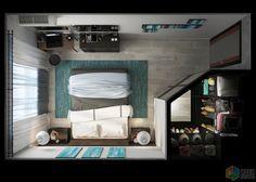 Планировка спальни с гардеробной