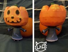 Animal Crossing: New Leaf - Jack Free Halloween Papercraft Download - http://www.papercraftsquare.com/animal-crossing-new-leaf-jack-free-halloween-papercraft-download.html#AnimalCrossing, #AnimalCrossingNewLeaf, #Halloween, #Jack, #Pumpkin