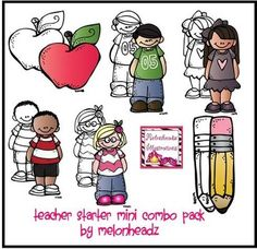 """#Free cute clip art by #Melonheadz ..... Follow for Free """"too-neat-not-to-keep"""" teaching tools & other fun stuff :)"""