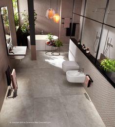 RAW | Baldosas de exterior Colección Raw By Atlas Concorde Concrete Bathroom, Concrete Tiles, Bathroom Floor Tiles, Outdoor Porcelain Tile, Outdoor Tiles, Porcelain Tiles, Concorde, Exterior Tiles, Grey Floor Tiles