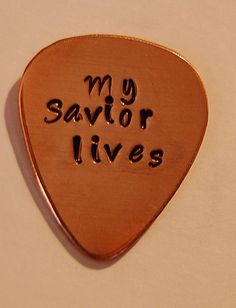 Custom Guitar pick You Rock card Hand stamped by SoBlessedDesigns, $18.00