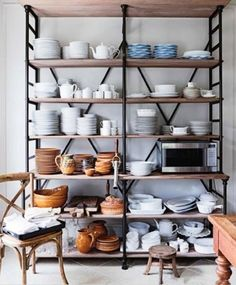 Love the collection of dishes.