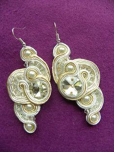 platinum soutache earrings
