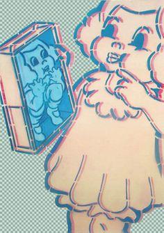 Simpson, 'CorpoGirl', 50x70 cm, acrylic on canvas, 2012