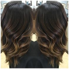 ✨ Winter balayage ✨ Rich brown base with subtle lightness
