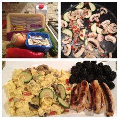 Egg White Veggie Scramble   recipe @ www.glitzgirlzglamourguide.com