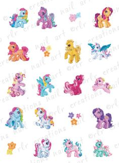 20 Assorted My Little Pony Water Slide Nail by RLRCreationsNailArt, $2.25...OMG Maddie