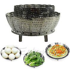 Stainless-Steel-Folding-Steamer-Steam-Vegetable-Basket-Mesh-Cooker-Expandable