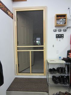 Screen Door Between House And Garage Provides Energy Savings By Not Having To Run The Air