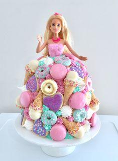 Barbie Theme Party, Barbie Birthday Cake, 5th Birthday Cake, Fairy Birthday Party, Barbie Fairy Cake, Dolly Varden Cake, Bolo Barbie, Princess Cupcake Toppers, Cupcakes