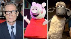 Bill Nighy, Peppa Pig, Shaun the Sheep Bill Nighy, Shaun The Sheep, Peppa Pig, Film, Movie, Film Stock, Cinema, Films