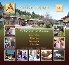 Artisan Square Bowen Island, British Columbia, Spa, Artisan, Culture, Travel, Viajes, Craftsman, Destinations