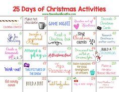 25 Days of Christmas Activities Advent Calendar | True Aim